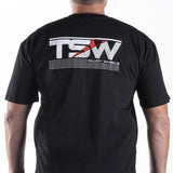T-SHIRT TSW SLANT BLACK - MEDIUM