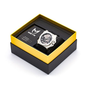 WATCH BLACK RHINO SILVER