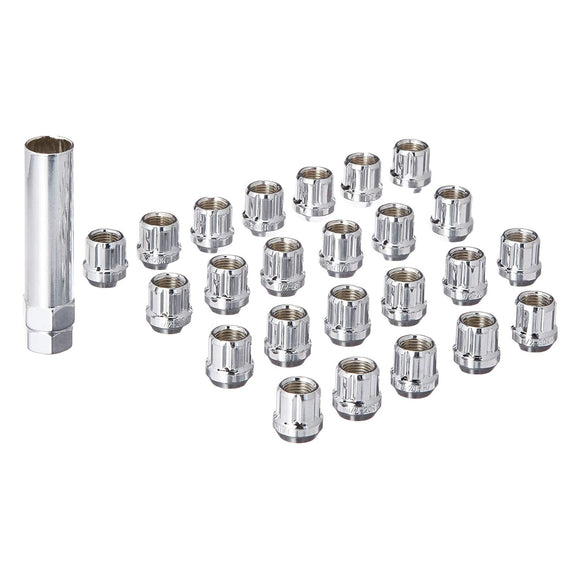 NUT 14X1.5 SPLINE OPEN 6 LUG KIT