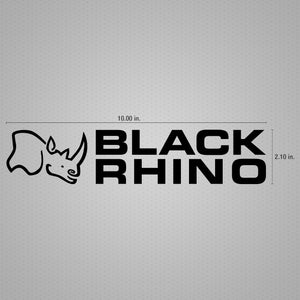STICKER DECAL BLACK RHINO STACK BLACK 10""