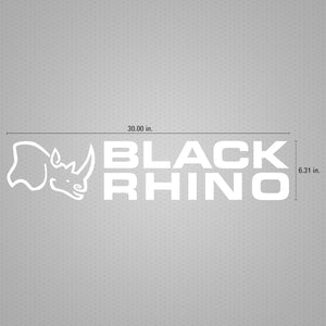 STICKER DECAL BLACK RHINO WINDOW WHITE 30""