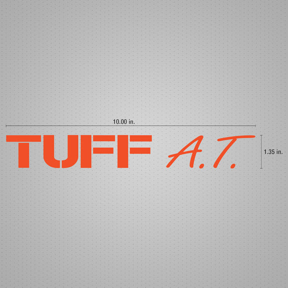 STICKER DECAL TUFF ORANGE 10