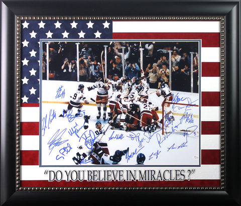 1980 Hockey Team Signed 16x20 Framed