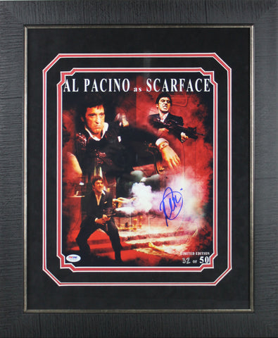 Al Pacino Scarface Signed 11x14 Limited Edition Framed