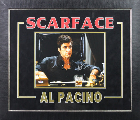 Al Pacino Scarface Signed 11x14 Logo Matting Framed