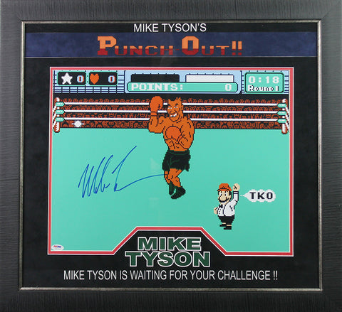 Mike Tyson 'Punch Out' signed 16x20 Framed