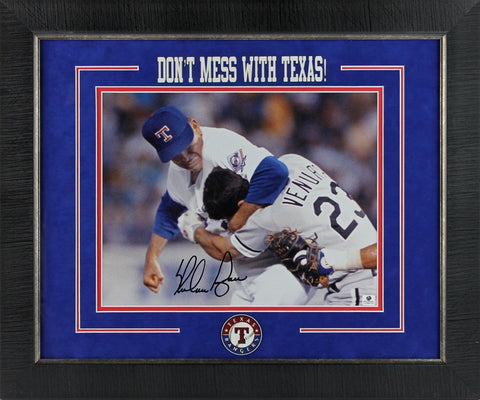 Nolan Ryan 'Fight' signed 11x14 Framed