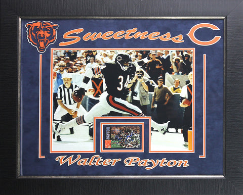 Walter Payton 11x14 Signed Display Framed