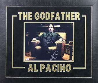 Al Pacino The Godfather Autograph 11 X 14 Photograph