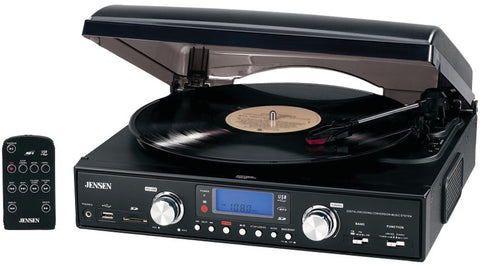 Jensen - 3-Speed Stereo Turntable with MP3 Encoding System Case Pack 2
