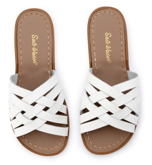 Salt Water Sandals in White Retro Slide