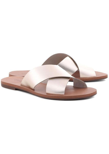 Anacapri | Flat Cross Sandal Gold