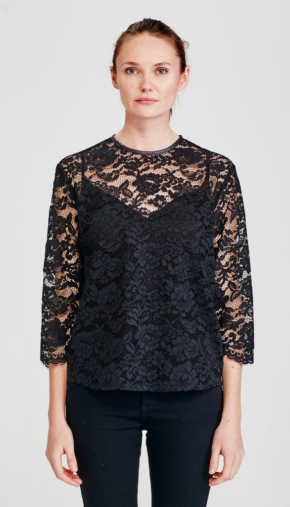 Juliette Hogan | Myra Blouse Scalloped Lace