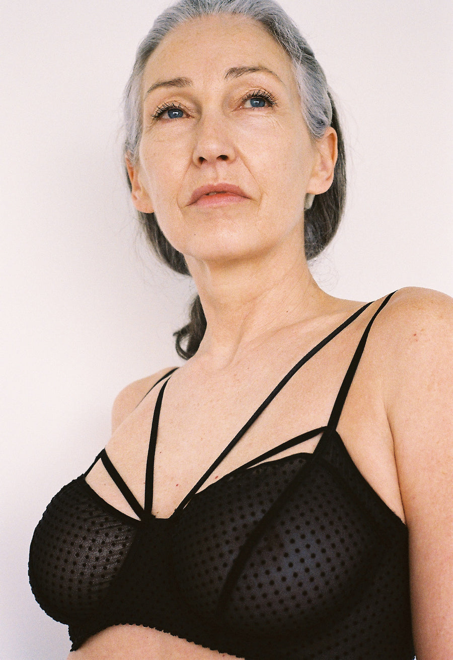 Lonely Lingerie | Gigi Underwire Bra Black Dot