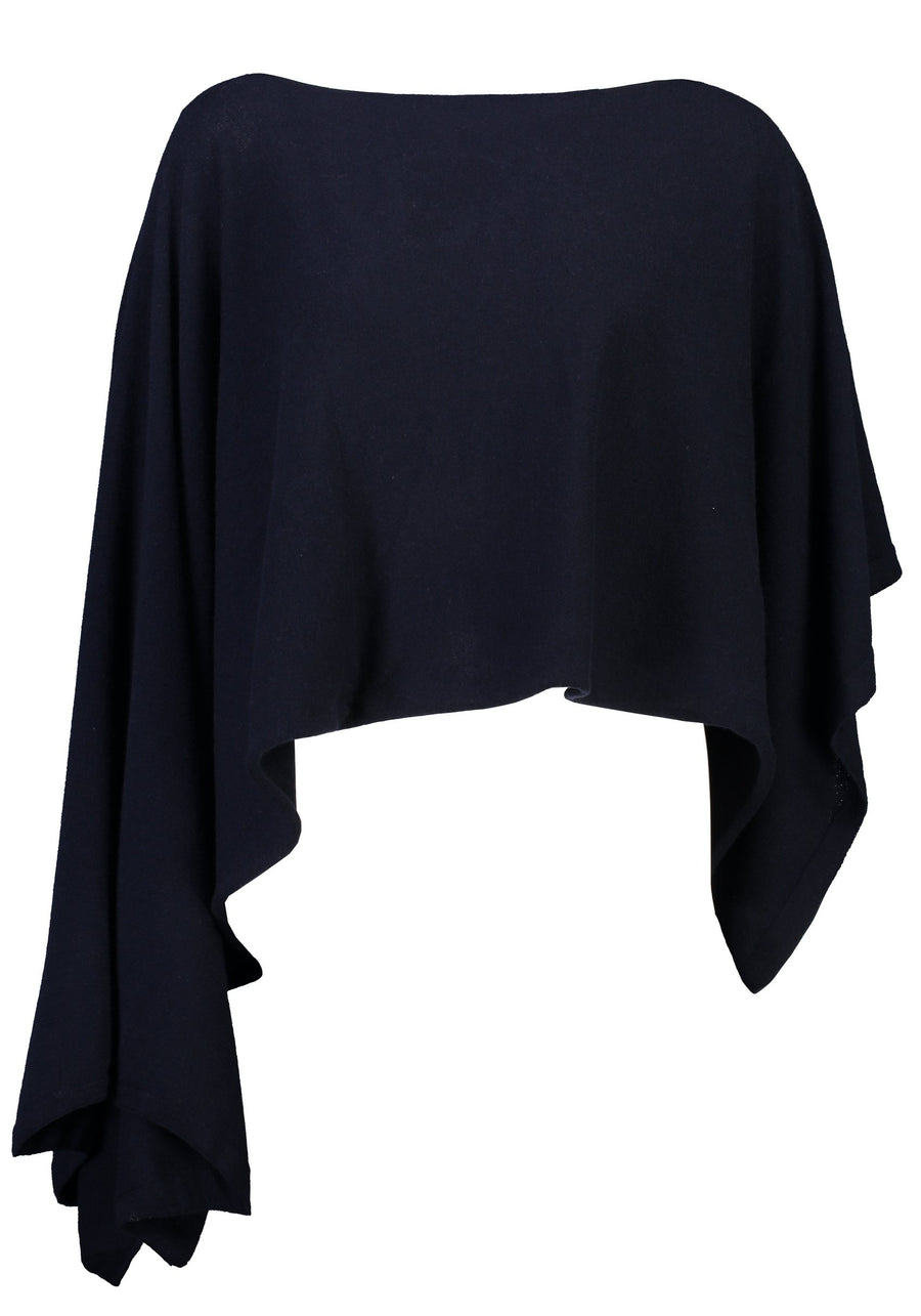 Standard Issue | Cashmere Poncho Navy