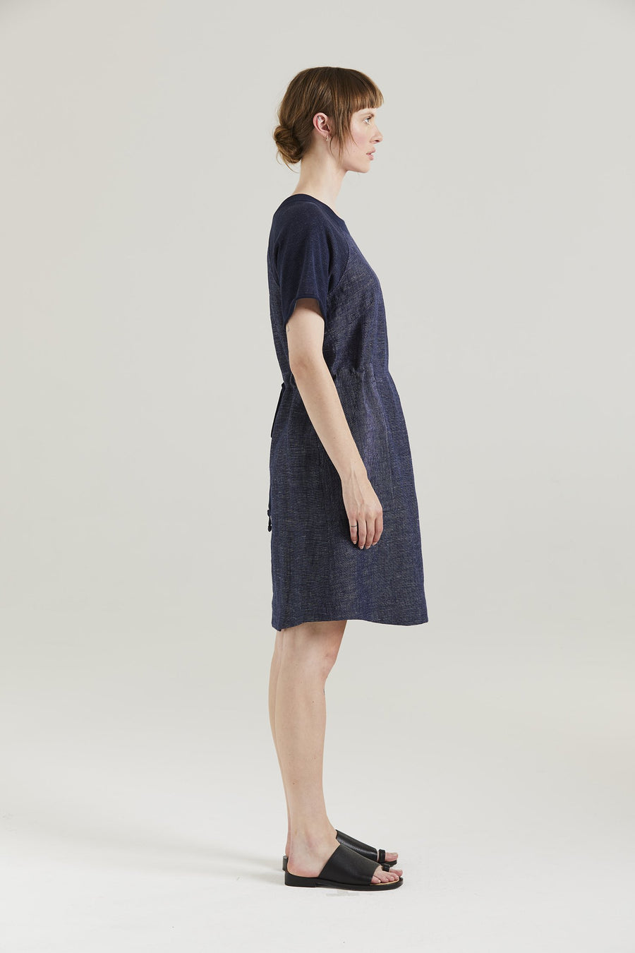 Standard Issue | Linen Dress Navy-White