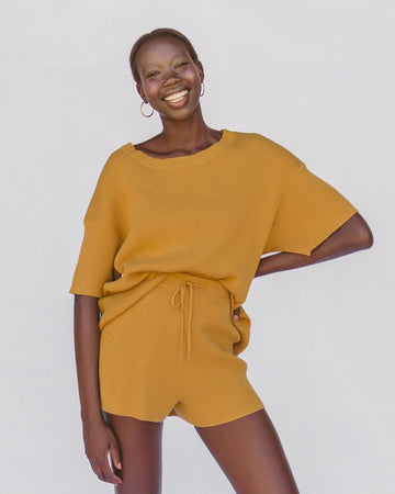 Lullabyclub_Alex_Knit_Shorts_Mustard