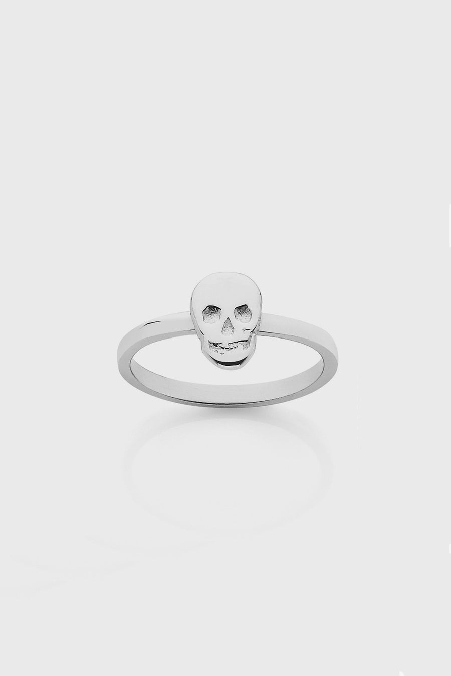 Meadowlark Skull Stacker Ring in Silver