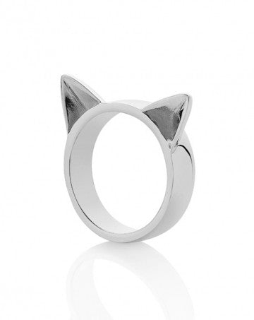 Meadowlark Cats Ear Ring in Silver