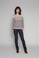 Standard Issue | Multi Striped Jumper - Cashew Multi