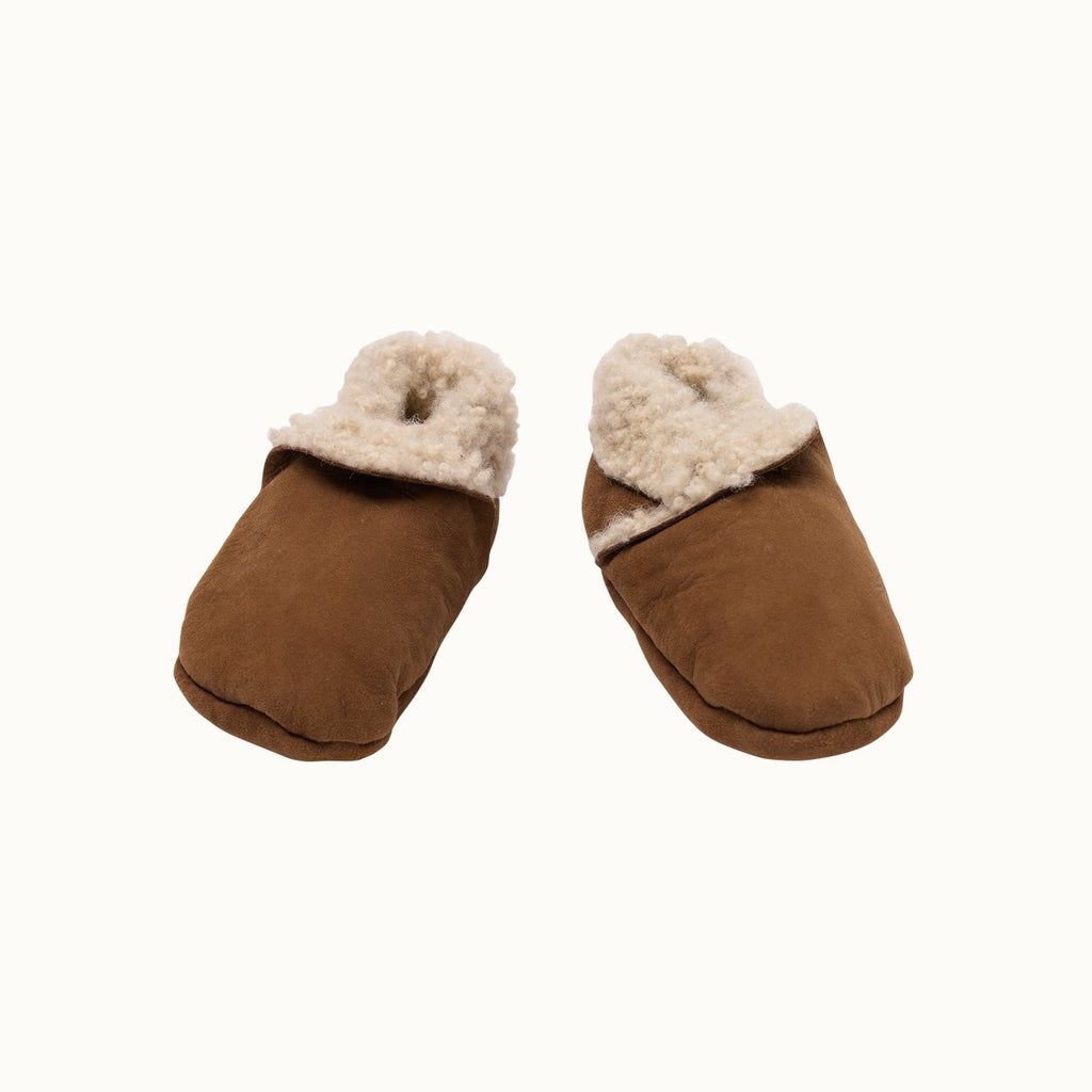 Nature Baby Lambskin Booties in Cinnamon