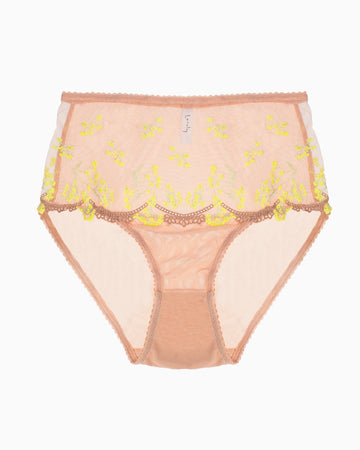 Lonely Lingerie | Scout High Waist Brief Yellow Daisy