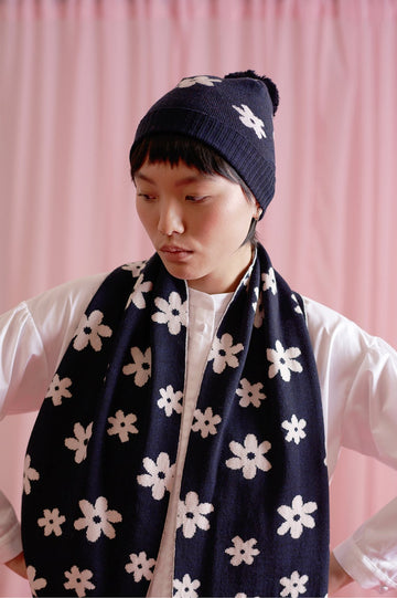 Twenty Seven Names | Milky Way Beanie Navy Daisy