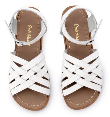 Salt Water Sandals in White Retro