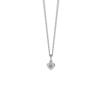 diamond heart necklace sterling silver grey diamond-meadowlark