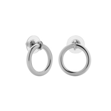 Meadowlark Halo Stud Earrings Large Silver