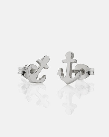 meadowlark anchor stud earrings