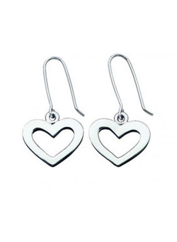 karen walker heart earrings