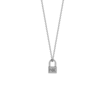 lock charm necklace sterling silver_meadowlark
