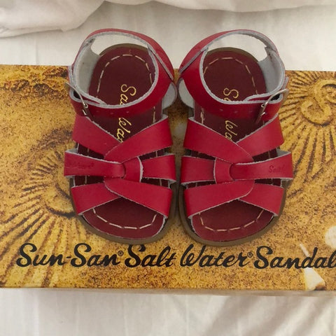 Salt Water Sandals in Red Original Infant/Toddler