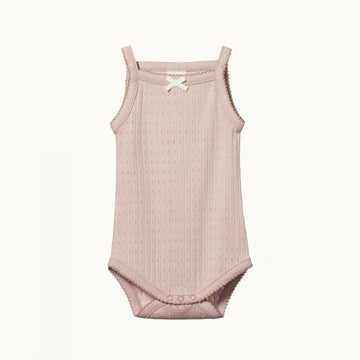 Nature Baby | Camisole Bodysuit Pointelle Rose Bud