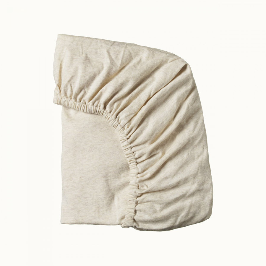 Nature Baby | Fitted Sheet Jersey Oatmeal Marl