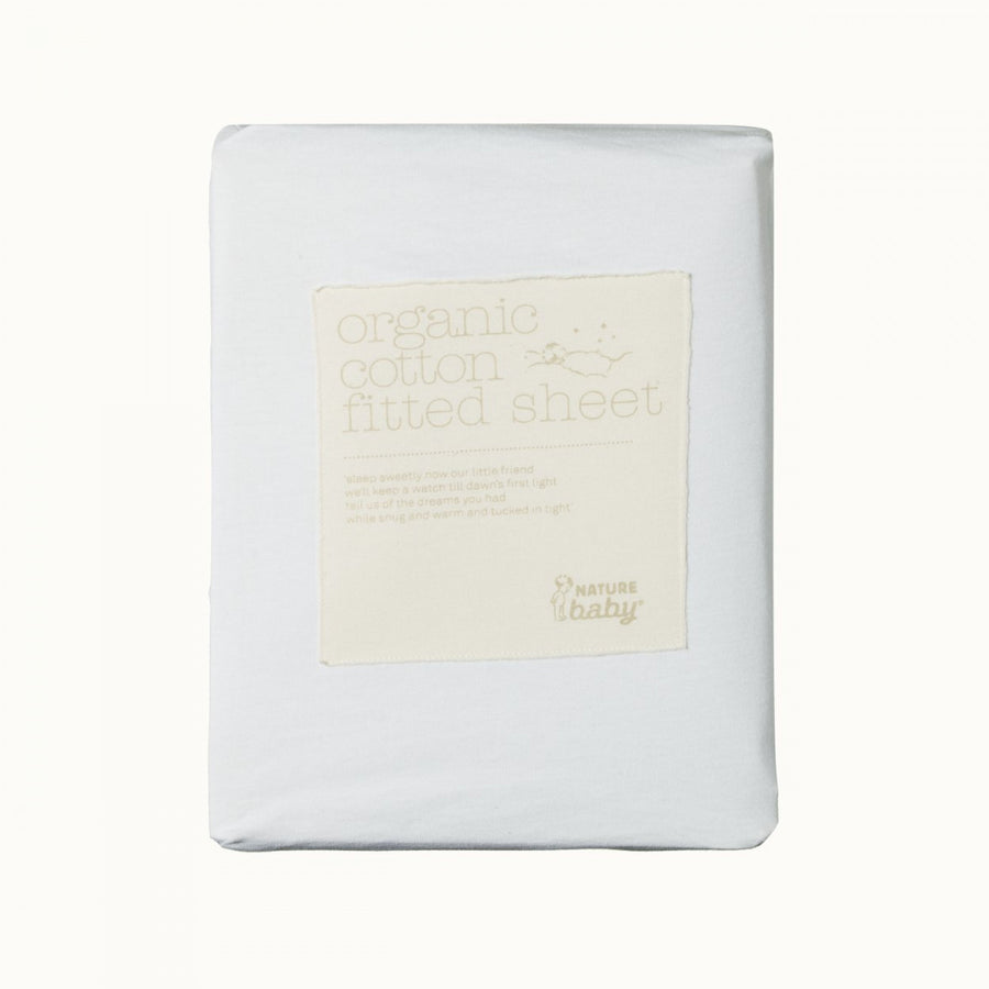 Nature Baby | Fitted Sheet Jersey White