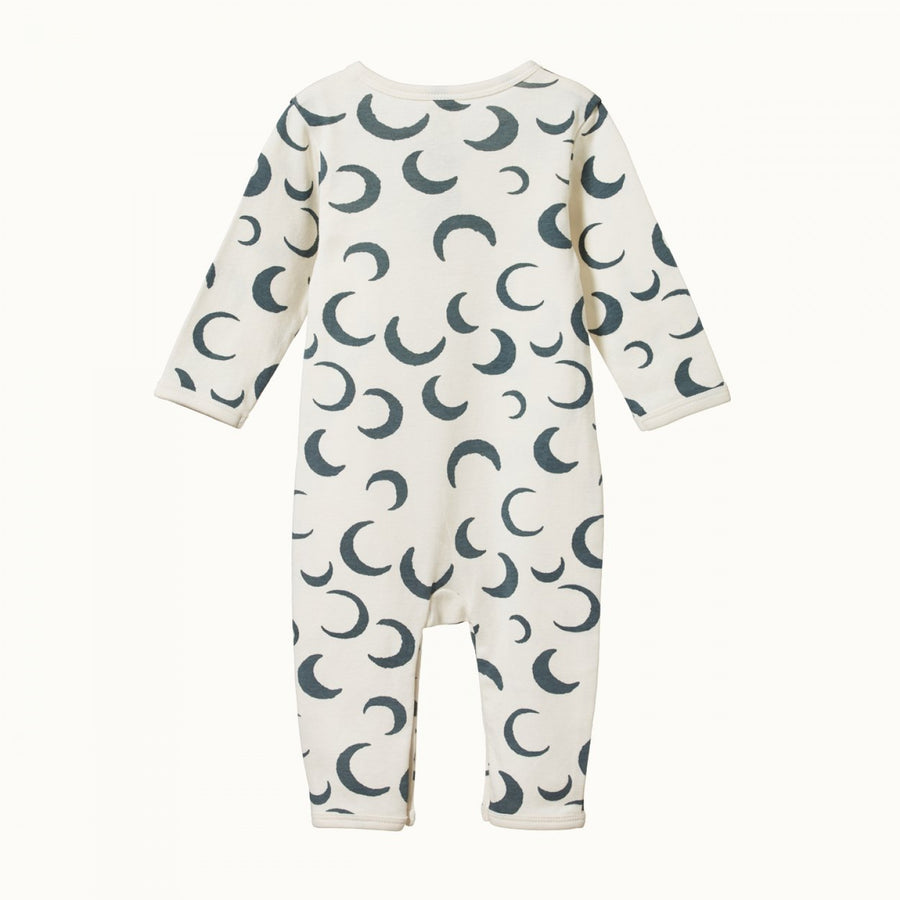 Nature Baby | Henley Pyjama Suit Crescent Moon