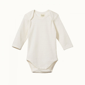 Nature Baby | Long Sleeve Bodysuit Pointelle Natural