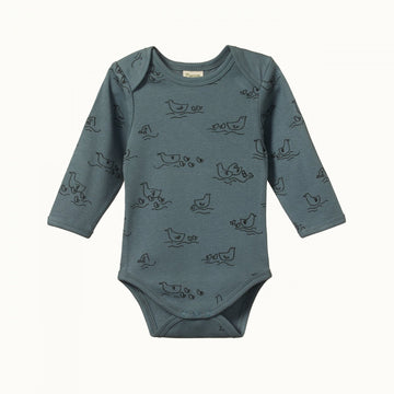 Nature Baby | Long Sleeve Bodysuit in Pond Print
