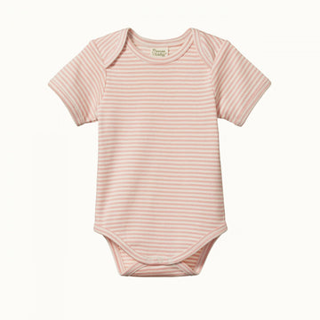 Nature Baby | Short Sleeve Body Suit in Lily Stripe