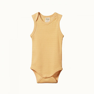 Nature Baby | Singlet Bodysuit Pointelle Lemon
