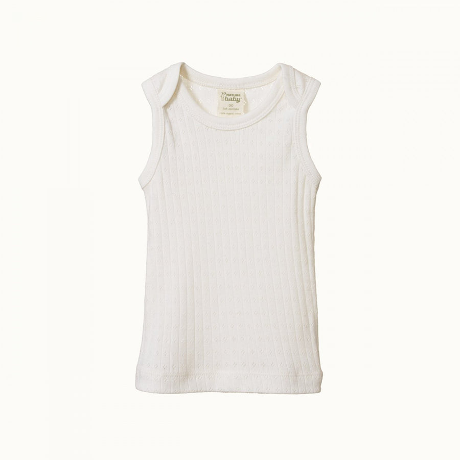 Nature Baby | Cotton Singlet Pointelle Natural