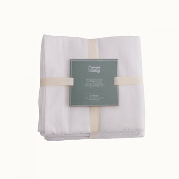 Nature Baby | Organic Cotton & Bamboo Nappy Square - 6 Pack