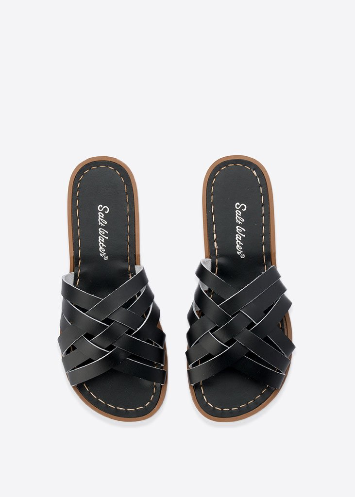 Salt Water Sandals in Black Retro Slide