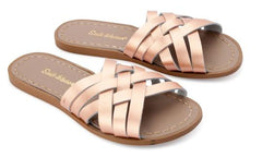 Salt Water Sandals in Rose Gold Retro Slide