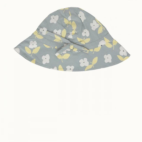 Nature Baby | Toddler Poplin Sunhat Meadow Blue Mist Print