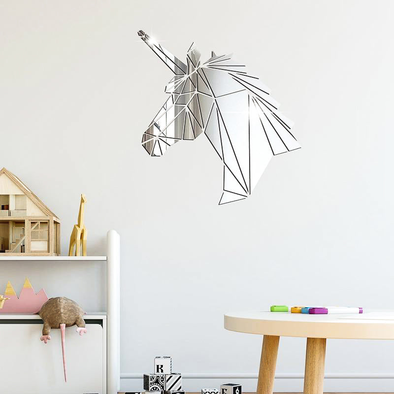 Lumi Unicorn Mirror Wall Sticker