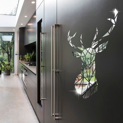 Lumi Deer Mirror Wall Sticker