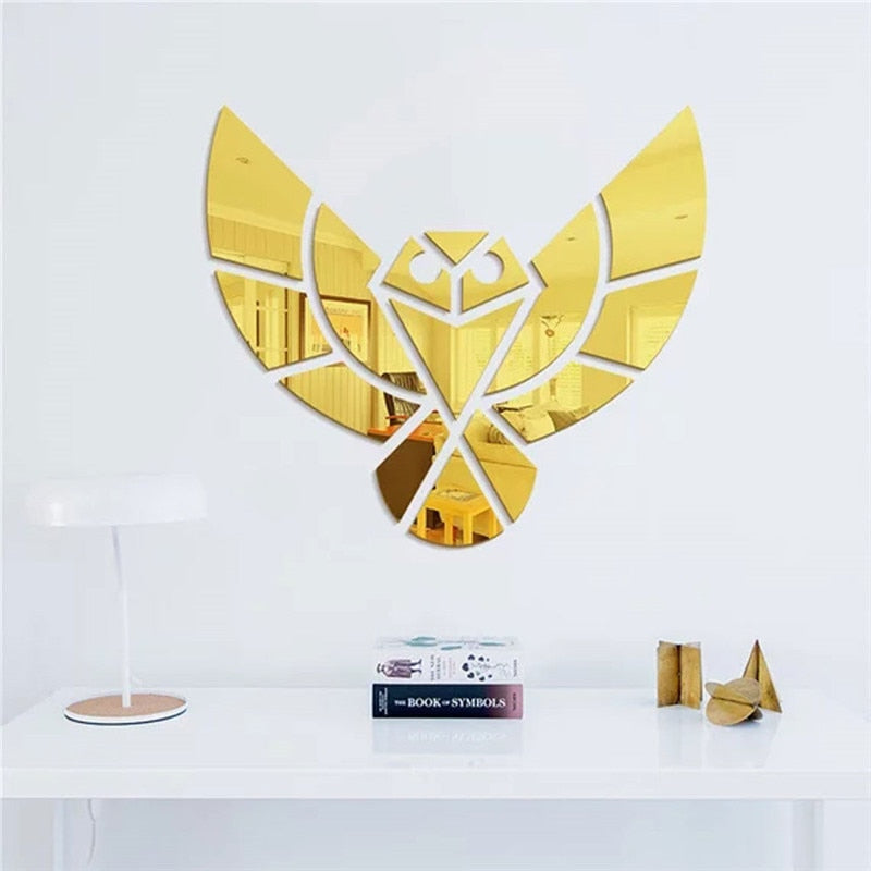 Lumi Owl Mirror Wall Sticker